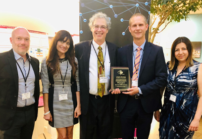 Pic shows the Rittal team receiving the Canadian Data Centre Infrastructure Award. From l to r: Olivier Bousette- Product Manager, Rittal; Sandra Abuwalla- Marketing, Rittal; Micheal O'Neill- Principal Analyst, Insightaas;  Tim Rourke, President, Rittal and Timea Ivan- Sales, Rittal